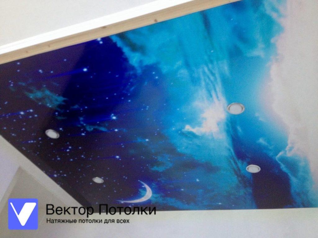 фотопечать на натяжном потолке галактика