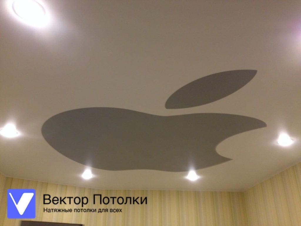 натяжной потолок матовый с фотопечатью