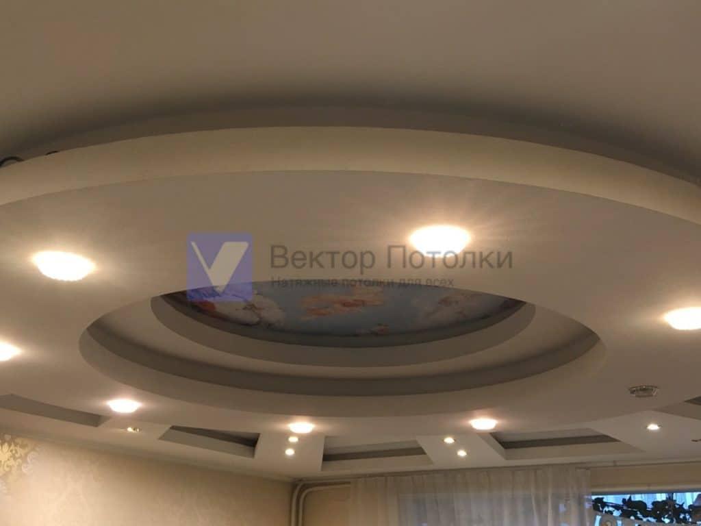 натяжной потолок с фотопечатью в конструкции