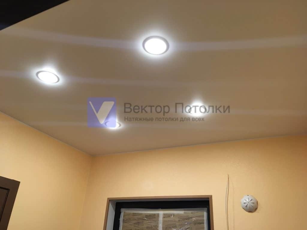 натяжной потолок со светильниками в прихожей